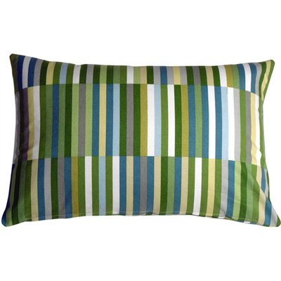 Jamaal Contemporary Side Step Cotton Lumbar Pillow Color: Marine