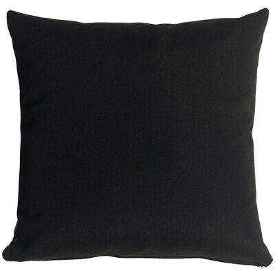 Outdoor Sunbrella Throw Pillow Color: Black