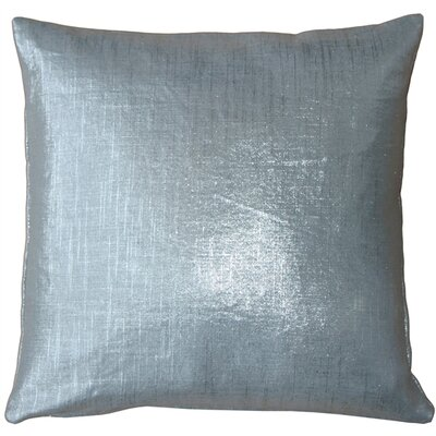 Tuscany Linen Throw Pillow Size: 16 H x 16 W x 5 D, Color: Silver Metallic