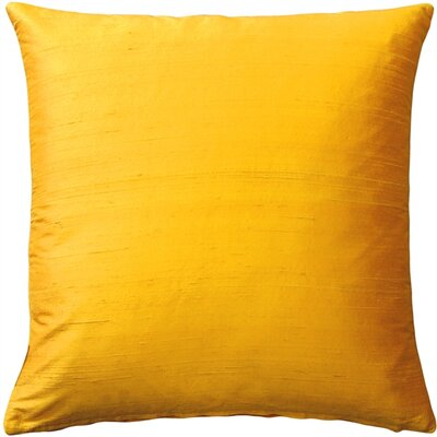 Finlay Solid Silk Throw Pillow Size: 20 H x 20 W x 6 D, Color: Deep Yellow
