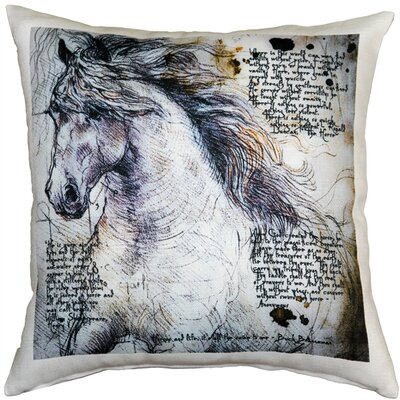 Napoli Horses Stallion Indoor/Outdoor Throw Pillow