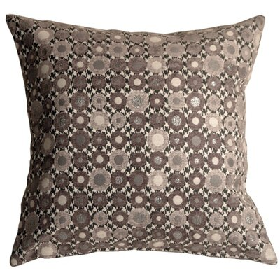 Kinley Spheres Square Throw Pillow Color: Gray