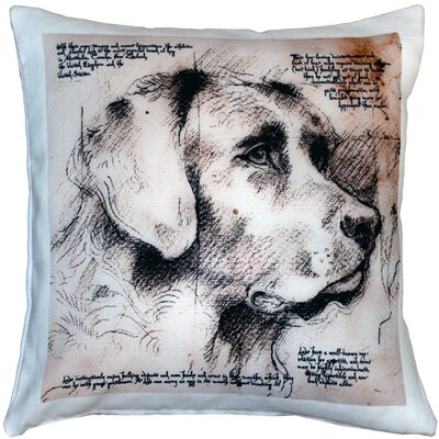 Chelston Labrador Dog Indoor/Outdoor Throw Pillow