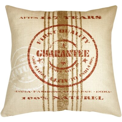 Kabir Quality Guarantee Throw Pillow Color: Red