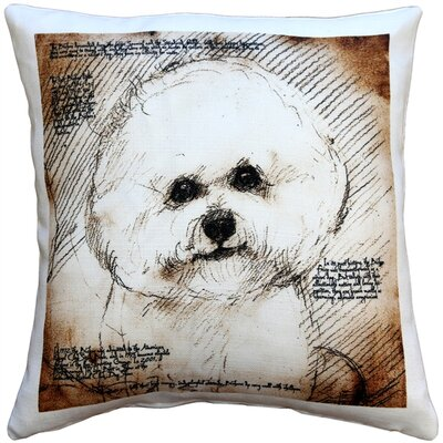 Cecilvale Bichon Dog Indoor/Outdoor Throw Pillow