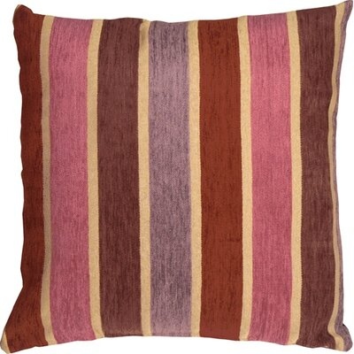 Belington Stripes Chenille Throw Pillow Color: Pink/Purple