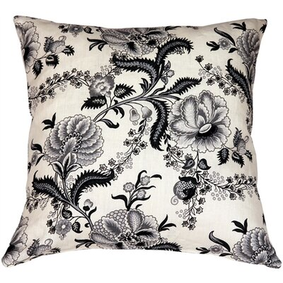 Chidley Floral Print Linen Throw Pillow