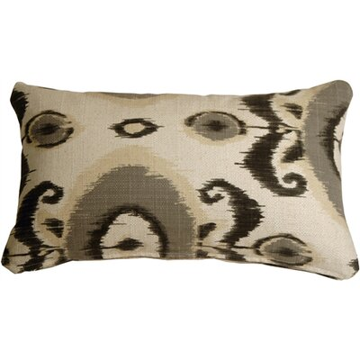 Fortune Ikat Lumbar Pillow Color: Gray