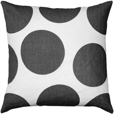 Vanderford Circles Linen Throw Pillow Color: Gray