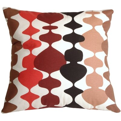 Lava Lamp Throw Pillow Color: Red