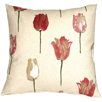 Charley Tulips Throw Pillow