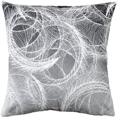 Prattsville Feather Swirl Throw Pillow Color: Gray