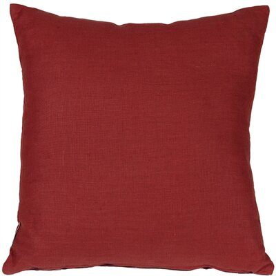Newsome Linen Throw Pillow Size: 17 H x 17 W x 5 D, Color: Red