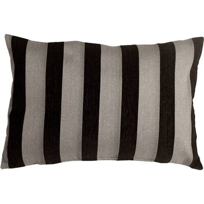 Boutin Stripes Rectangular Lumbar Pillow Color: Black