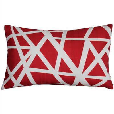 Vanbrunt Indoor/Outdoor Lumbar Pillow Color: Red