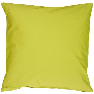 Caravan Cotton Throw Pillow Size: 20 H x 20 W x 6 D, Color: Lime Green