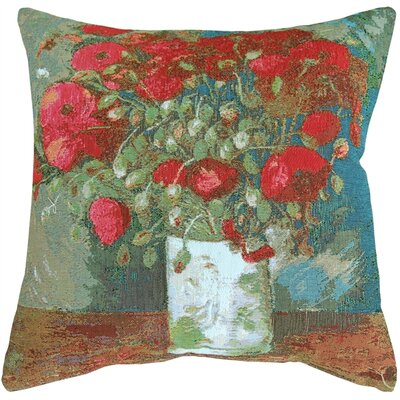 Van Gogh Poppies Throw Pillow