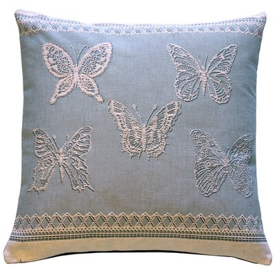 Dewitt Lace Butterflies French Tapestry Throw Pillow