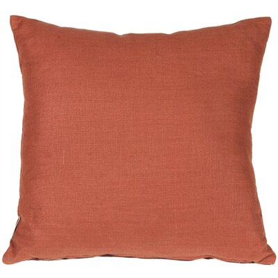 Newsome Linen Throw Pillow Size: 20 H x 20 W x 6 D, Color: Sienna