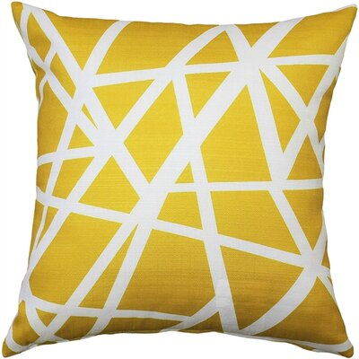 Vanbrunt Indoor/Outdoor Throw Pillow Color: Yellow