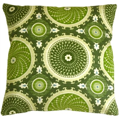 Chessington Medallion Cotton Throw Pillow Color: Jade