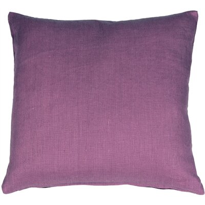 Newsome Linen Throw Pillow Size: 20 H x 20 W x 6 D, Color: Purple
