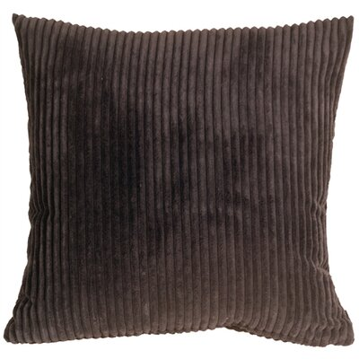 Wide Wale Corduroy Throw Pillow Size: 18 H x 18 W x 5 D, Color: Dark Brown