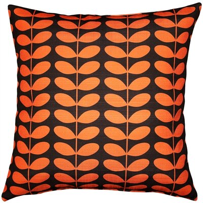 Falmouth Mid-Century Modern Indoor/Outdoor Throw Pillow Color: Orange