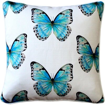 Costa Rica Robins Egg Butterfly Large Scale Throw Pillow