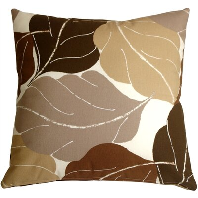 Autumn Leaves Throw Pillow Color: Brown