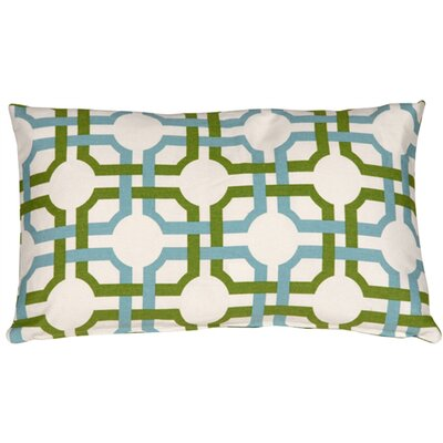 Jamaal Groovy Grille Cotton Lumbar Pillow Color: Confetti