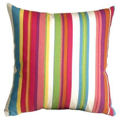 Ovid Sidewalk Stripe Cancun Indoor/Outdoor Throw Pillow