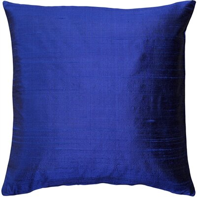 Finlay Solid Silk Throw Pillow Size: 20 H x 20 W x 6 D, Color: Ink Blue