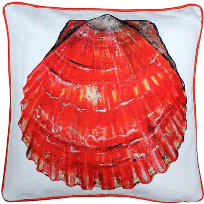 Big Island Bay Scallop Solitaire Throw Pillow