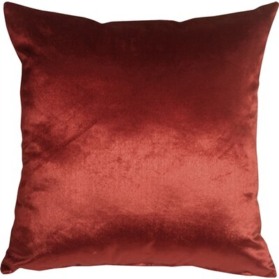 Renna Throw Pillow Size: 16 H x 16 W x 5 D, Color: Red
