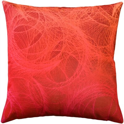 Prattsville Feather Swirl Throw Pillow Color: Red