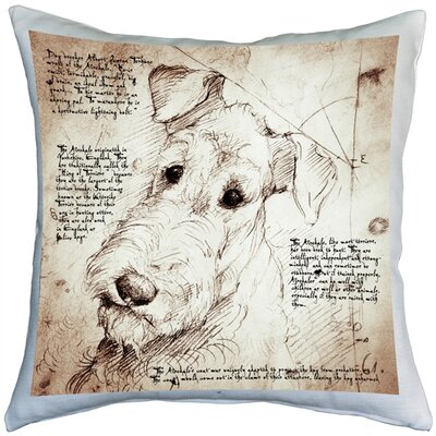 Casurina Airedale Terrier Dog Indoor/Outdoor Throw Pillow