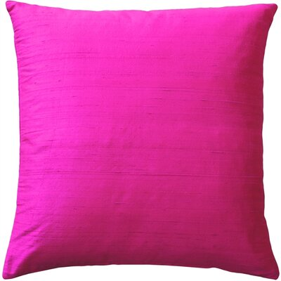 Sankara Silk Throw Pillow Size: 18 H x 18 W x 5 D, Color: Fuchsia Pink