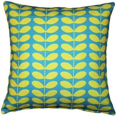 Falmouth Mid-Century Modern Indoor/Outdoor Throw Pillow Color: Turquoise