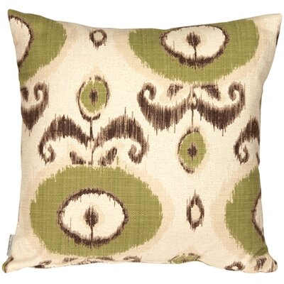 Fortune Ikat Throw Pillow Color: Green