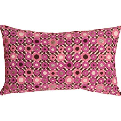 Kinley Spheres Rectangular Lumbar Pillow Color: Pink