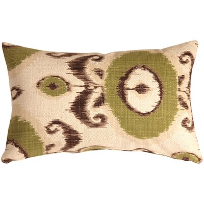 Fortune Ikat Lumbar Pillow Color: Green
