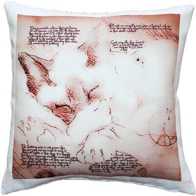 Dreaming Cat Indoor/Outdoor Throw Pillow