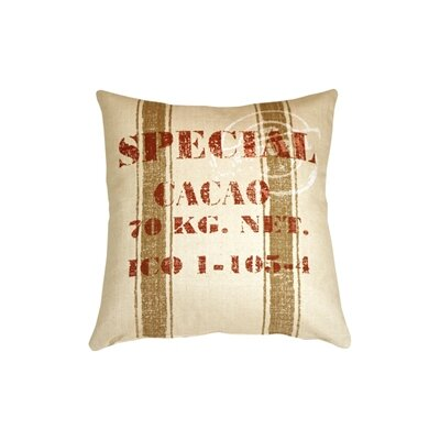 Rudra Cacao Bean Throw Pillow Color: Red
