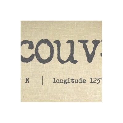 Vanderburg Vancouver Coordinates Linen Lumbar Pillow