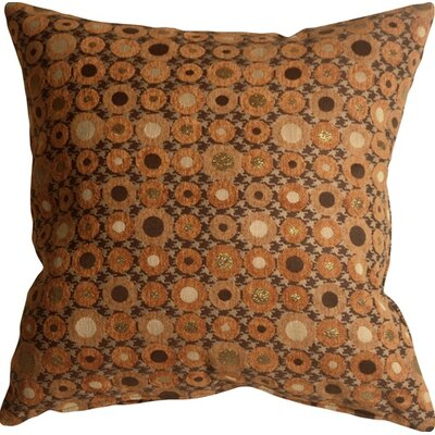 Kinley Spheres Square Throw Pillow Color: Orange