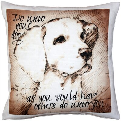 Cheddington Do Unto Your Dog Throw Pillow