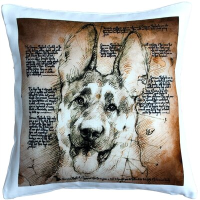 German Shepherd Dog Indoor/Outdoor Throw Pillow