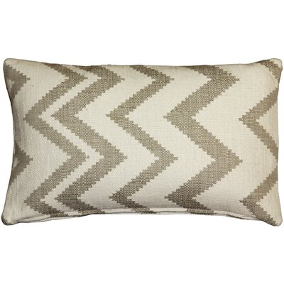Moreau Zigzag Cotton Lumbar Pillow Color: Cream