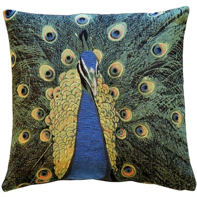 Harrell Peacock Throw Pillow